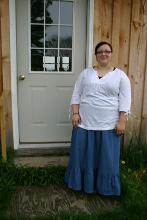 Ladie's Denim Prairie Skirt