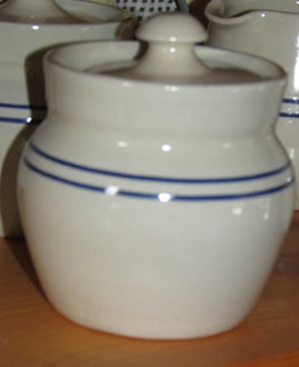 Pottery Sugar Bowl