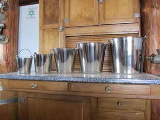 Stainless Pails in a variety of sizes